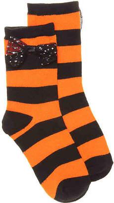 High Point Design Sparkle Bow Toddler Crew Socks - Girl's