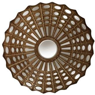 Generic Webbed Transitional Metal Wall Mirror - Antique Bronze Finish