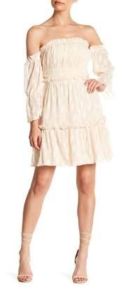 Endless Rose Off-The-Shoulder Shirred Dress