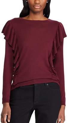 Chaps Women's Ruffle Sweater