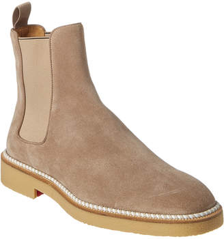 Christian Louboutin Crepe Suede Chelsea Boot