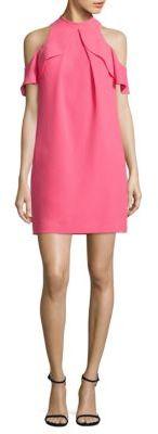 Trina Turk Amado Cold-Shoulder Crepe Dress