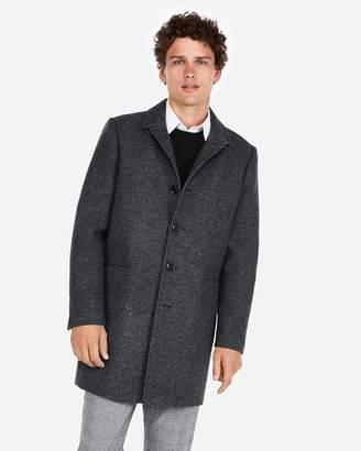 Express Textured Wool-Blend Twill Topcoat