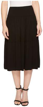 Three Dots Refined Jersey Tiered Midi Skirt Women's Skirt