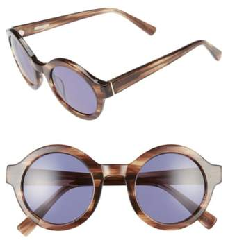 Derek Lam 'Luna' 47mm Round Sunglasses