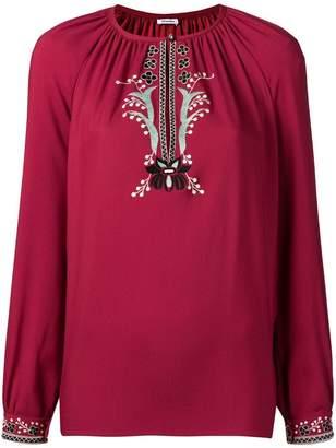 Vilshenko embroidered floral details blouse