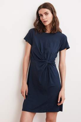 Velvet by Graham & Spencer BRIAR COTTON SLUB KNOT T-SHIRT DRESS
