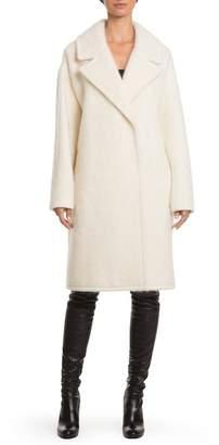 Badgley Mischka 'Jenna' Snap Back Cocoon Coat $595 thestylecure.com