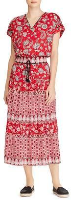 Lauren Ralph Lauren Printed Cotton V-Neck Dress