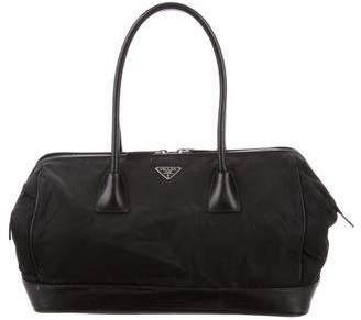 Prada Leather-Trimmed Nylon Handle Bag