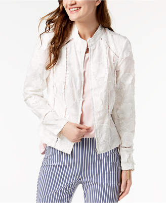 INC International Concepts I.n.c. Petite Eyelash Embroidered Floral Jacket, Created for Macy's
