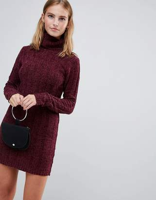 Brave Soul Perrie Roll Neck Sweater Dress
