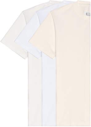 Maison Margiela Pack Cotton Jersey in Off White-Optic White-Cream | FWRD