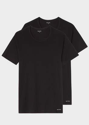 Paul Smith Men's Black Crew Neck Short-Sleeve T-Shirt Two Pack