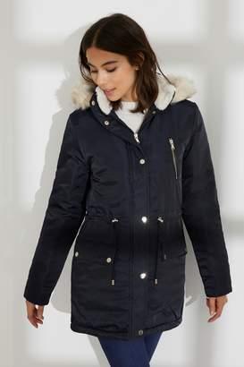 551b10b2c47 Next Womens Dorothy Perkins Faux Fur Hood Parka Jacket