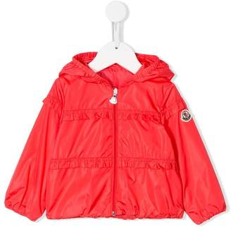 Moncler ruffle trimming hooded jacket