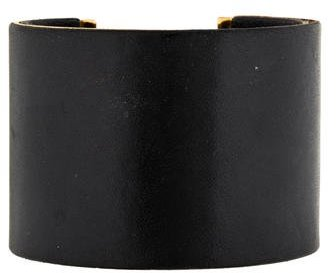 Celine Céline Leather Cuff Bracelet