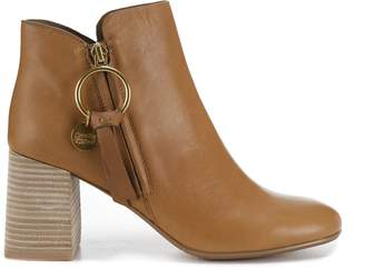 See by Chloe Stacked Heel Ankle Boots