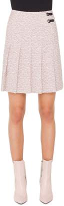 Akris Punto Pleated Tweed Skirt