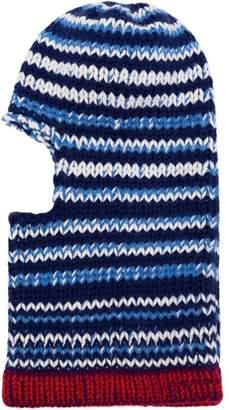 Calvin Klein Blue striped wool balaclava
