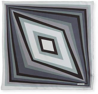 Tom Ford Geometric Diagonal Silk Pocket Square