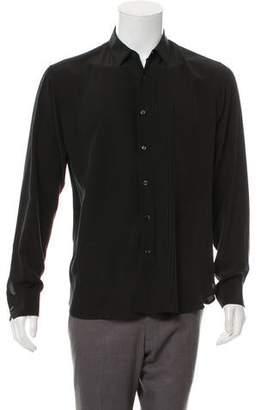 Saint Laurent Silk Tuxedo Shirt