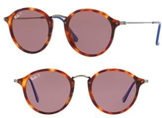 Ray-Ban 52mm Polarized Round Sunglasses