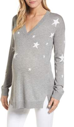 Isabella Oliver Annora Intarsia Knit Maternity Sweater