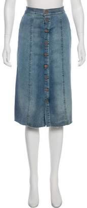Mother Knee-Length Denim Skirt