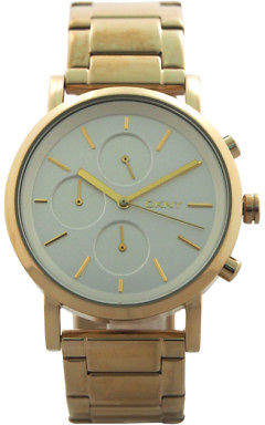 DKNY NY2274 Chronograph Soho Gold Ion Plated Stainless Steel Bracelet Watch 1 Pc