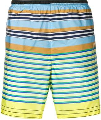 Prada striped swim shorts