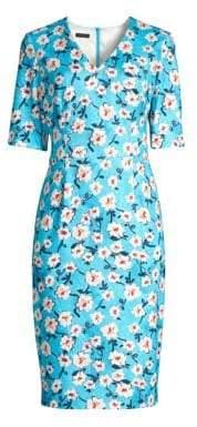 Escada Dnila Floral Sheath Dress