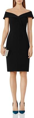REISS Haddi Off-the-Shoulder Dress $360 thestylecure.com