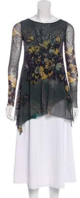 Jean Paul Gaultier Soleil Printed Long Sleeve Top