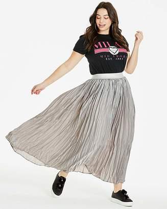 Fashion World Metallic Pleat Maxi Skirt