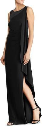 Lauren Ralph Lauren Mesh-Inset Jersey Gown