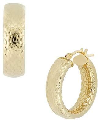 Bony Levy 14K Yellow Gold Medium Textured Huggies Earrings