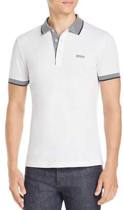 BOSS Paule Contrast-Stripe Polo Shirt