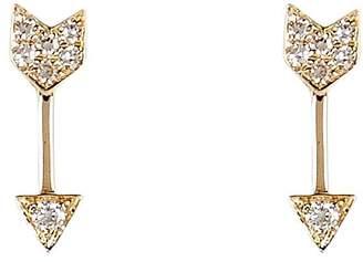 Ef Collection Diamond Arrow Stud Earrings