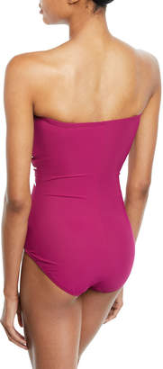 Gottex Sinatra Printed Bandeau One-Piece Swimsuit