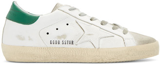 Golden Goose White Superstar Sneakers $460 thestylecure.com
