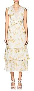Brock Collection Women's Lace-Trimmed Floral Cotton Dress - Yellow