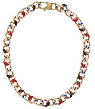 Delfina Delettrez Anatomik Enamel Curb Chain Necklace