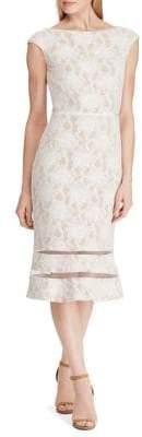 Lauren Ralph Lauren Slim Fit Lace Cap Sleeve Dress