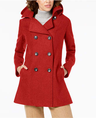 Nautica Double-Breasted Hooded Peacoat