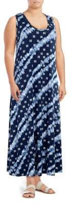 Rachel Roy Plus Sleeveless Printed Maxi Dress