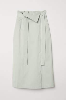 H&M Calf-length Skirt - Green