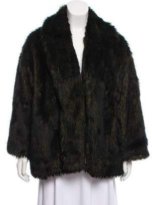 Alice + Olivia Faux Fur Long Sleeve Jacket