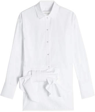 Victoria Beckham Victoria Cotton Shirt with Bow