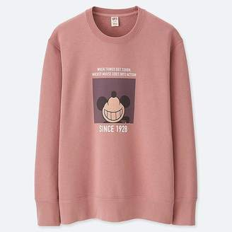 Uniqlo Men's Celebrate Mickey Graphic Sweatshirt